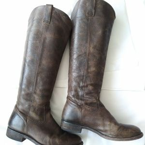 Tall Riding Boot Leather Sz7.5